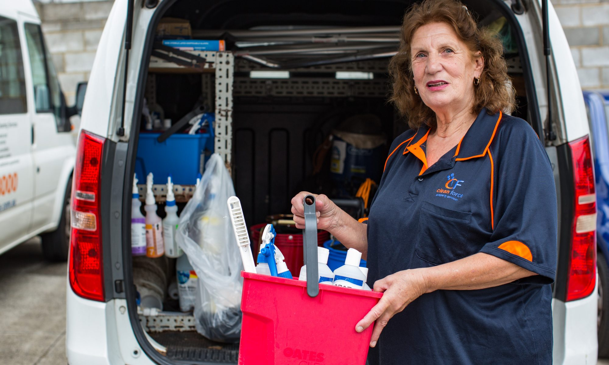 Linda celebrates ten years with Clean Force
